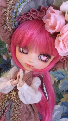 Forest Flower Princess Custom Pullip doll by *chocola* for auction by Groove at Doll Show      #doll #pullip #custom
