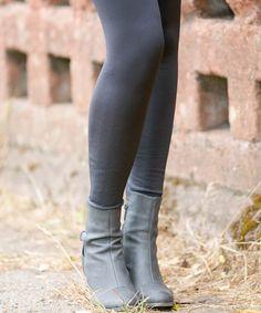 Look at this #zulilyfind! Charcoal Fleece Leggings #zulilyfinds