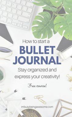 How to start a bullet journal: bullet journaling journal planner creative creativity organization organized sched