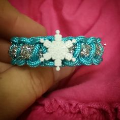 Frozen Princess Elsa bracelet  Hey, I found this really awesome Etsy listing at https://www.etsy.com/listing/201448838/frozen-inspired-paracord-bracelets