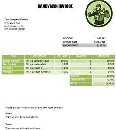 Practiced Handyman Invoice Templates Demplates Richard Horton - Handyman invoice template pdf online antique store