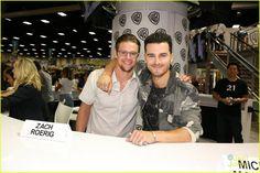 Zach Roerig and Michael Malarkey at #TVD Comic-Con Signing 2016