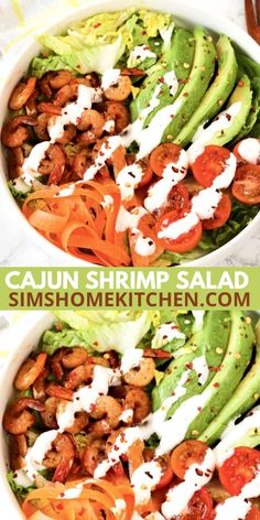 This Cajun shrimp salad is exactly what you need for National Shrimp day. Put this delicious salad together in under 20 minutes! Cajun Shrimp Salad Recipe, Shrimp Recipes, Chicken Recipes, Make Ahead Meals, Easy Meals, Prawn Salad, Prepped Lunches, Food Heaven, Lunch Ideas