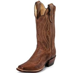 Justin Boots Western Tan Distressed Vintage Goat
