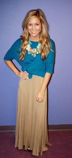 Fall Maxi Skirt Taupe | Impressions