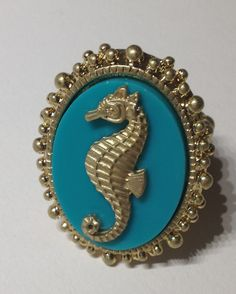 SEAHORSE MINT RING  $11.00  free size