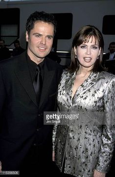 Donny Osmond and Marie Osmond during 26th Annual American Music Awards at Shrine Auditorium in Los Angeles California United States