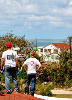 Eleuthera, Bahamas I miss roofing with these people!