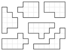 Mathpuzzle.com  Use one set of 12 pentominoes to make the shapes