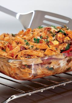 Three Cheese Baked Penne