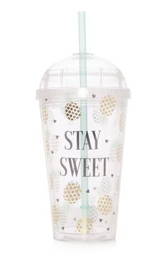 Primark - Favourites Pineapple Stay Sweet Cup with Straw