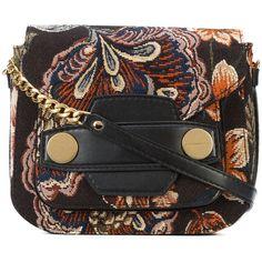 Stella McCartney Stella Popper shoulder bag ($1,210) ❤ liked on Polyvore featuring bags, handbags, shoulder bags, black, envelope clutch bags, shoulder strap bags, studded shoulder bag, oversized handbags and shoulder handbags