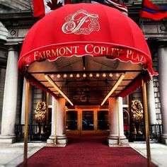Lovely shot of The Fairmont Copley Plaza entrance. Credit: @Art Jonak
