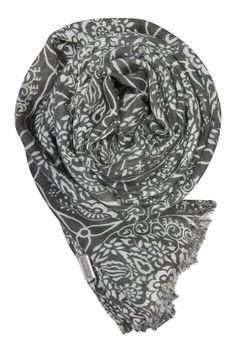 Kashmir i eggevit og aske Alexander Mcqueen Scarf, Cashmere, Fashion, Moda, Cashmere Wool, Fashion Styles, Paisley, Fashion Illustrations
