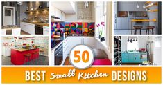 Don't feel limited by a small kitchen space. Here are fifty designs for smaller kitchen spaces to inspire you to make the most of your own tiny kitchen.