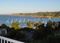 Stunning views over Oneroa Beach in Oneroa, Waiheke Island | Bookabach In Oneroa $500+ Sleep 8, 4 bedrooms, 2 bathrooms