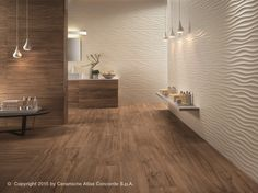 Rivestimento tridimensionale in ceramica a pasta bianca 3D WALL DESIGN DUNE by…
