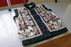 Traditional 'keptar', or sheepskin vest, in a popular style of Kolomyia city and neighbouring villages of Carpathian Western Ukraine (Entirely hand made, decorated, sewn, and assembled by Dave Melnychuk)
