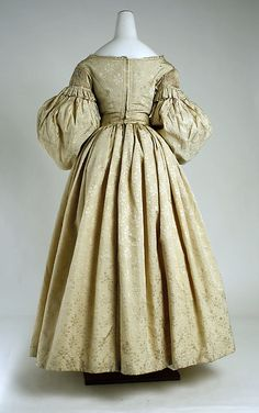 Dress, Evening.  Back view.  British, ca. 1835.  Metropolitan Museum of Art. http://www.metmuseum.org/collections/search-the-collections/80036080?img=1#