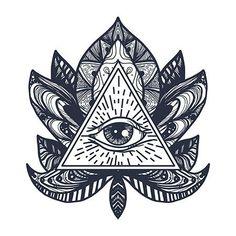 All seeing eye in mandala lotus. providence magic symbol for print, tattoo, coloring Hand Tattoos For Girls, Tattoos For Guys, Lotus Tattoo, Mandala Tattoo, Tattoo Sketches, Tattoo Drawings, Eye Mandala, Masonic Tattoos, Egyptian Drawings
