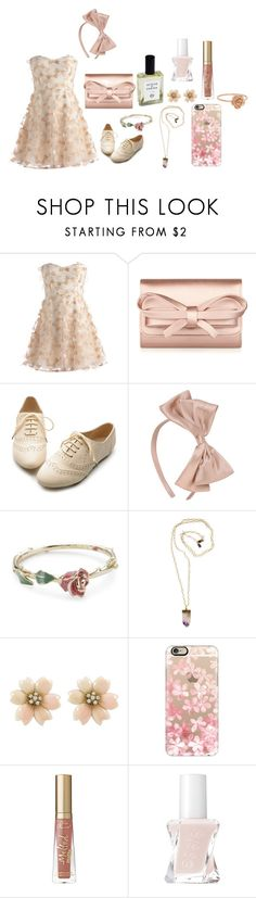 """""""Untitled #722"""" by hotlinejenn ❤ liked on Polyvore featuring Valentino, Ollio, Forever 21, Disney Couture, Acqua di Parma, Peggy Li, Casetify, Too Faced Cosmetics and Essie"""