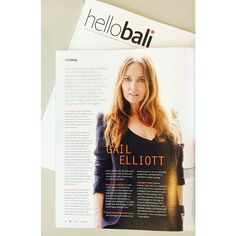 HELLO BALI magazine - thank you for featuring LITTLE JOE WOMAN by GAIL ELLIOTT!! This cool Fashion, Lifestyle & Interior magazine is available now! GEx  @mylespritchard #gailelliott #littlejoewoman