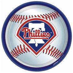 Philadelphia Phillies Baseball Round Dinner Plates