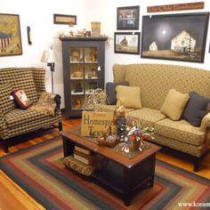 Primitive Living Room, Living Room Decor Country, Home Living Room, Country Decor, Primitive Country, 80s Furniture, Brothers Furniture, Rustic Furniture, Living Room Furniture