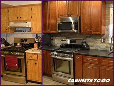 Real Renovations: Before & After with #CabinetsToGo and Maryann! #kitchendesign #kitchenrenovation #kitchenremodel #designinspiration #designtrend #interiordesign