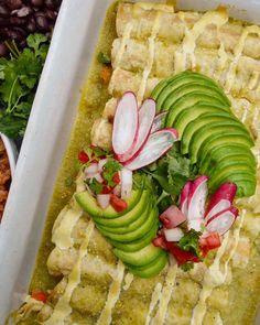 Vegan Green Enchiladas, mexican food, vegan, dinner, recipes, fueled naturally
