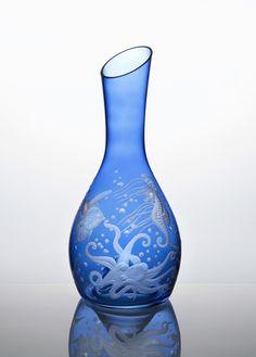 ARTEL's Wine Carafe in Frutti Di Mare (FM1) in Blue
