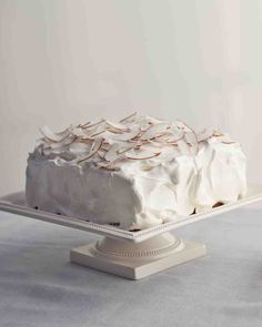 Coconut Cake (with Italian Meringue frosting) Martha Stewart