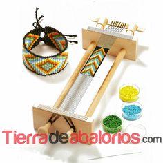 Knorr Prandell 34 x x 6 cm Weaving Frame Beads, Brown, standart Bead Loom Designs, Bead Loom Patterns, Jewelry Patterns, Beading Patterns, Bead Loom Bracelets, Bracelet Crafts, Inkle Weaving, Bead Weaving, Loom Bands