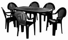 ORION 7PCE PATIO SUITE               *M*SPACIOUS TABLE WITH 6UV RESISTANT CHAIRS