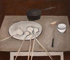 William Scott:  Still Life with Garlic (1947). Simplicity makes masterpieces.