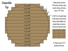 70 inch Circlular Table Top Assembly – Patio Table – Ideas of Patio Table Conjunto de mesa circular de … Round Farmhouse Table, Round Patio Table, Diy Dining Table, Dining Rooms, Patio Tables, Round Tables, Kitchen Tables, Large Round Dining Table, Nook Table
