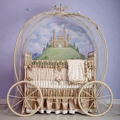 baby bed cinderaila carriage