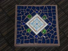 Mosaic Stepping Stone for the Garden  Square  by MosaicsbyMadonna, $45.00
