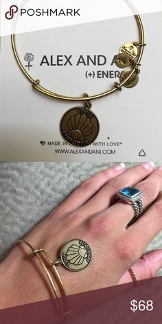 """Alex & Ani Bracelet Authentic Alex &Ani bracelet. Eco friendly material and Russian Gold plated. This item is retired an extremely difficult to find. It was part of the Team USA Olympic Collection. Get your goddess on! """"Aphrodite"""" """"Venus"""" style! Alex & Ani Jewelry Bracelets"""
