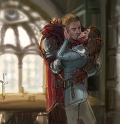 """princessvicky01: """" kaoruyogi: """" sanshodelaine: """"I am back in dragon age hell. Have some color sketches """" These are just lovely. *swoons in a corner* """" Oh my… """"(Photo set)"""
