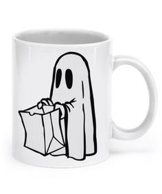 Trick-r-Treat bag and ghost~Mug GHOST