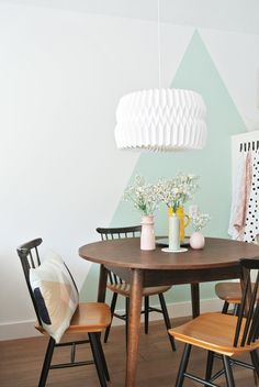 Painted triangle for a great accent wall!