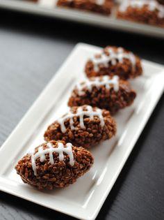 Leanne bakes: Football Rice Krispie Treats