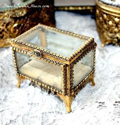 "Every woman's French Boudoir should have gilt. Gold Plating, that is. {gilt with an ""i"" only!} There are so many beautiful antique and vintage vanity and dresser items to use daily and display with..."