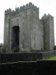 "Bunratty Castle meaning ""Castle at the Mouth of the Ratty"") is a large tower house in County Clare, Ireland. The present structure, was built by the MacNamara family after around Places To Travel, Places To See, Places Ive Been, Ireland Vacation, Ireland Travel, Ennis Ireland, Clare Ireland, Beautiful Castles, Beautiful Places"