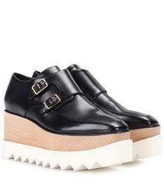 STELLA MCCARTNEY Elyse Platform Monk Shoes. #stellamccartney #shoes #flatforms