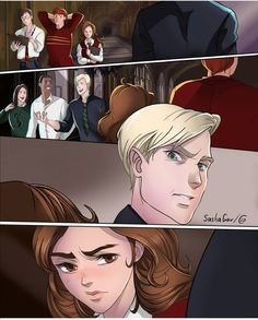 Harry Potter Items, Harry Potter Ships, Harry Potter Anime, Harry Potter Hermione, Harry Potter Fan Art, Draco Malfoy, Draco And Hermione Fanfiction, Harry Potter Sketch, Harry Potter Drawings