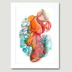 The Bautiful Gold Fish Under The Sea Dream Land by FlowerFairyArt, $80.00