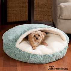 Large Luxury Cozy Cave Dog Bed.  The Basenjis *need* this for Christmas. And they're on sale this week