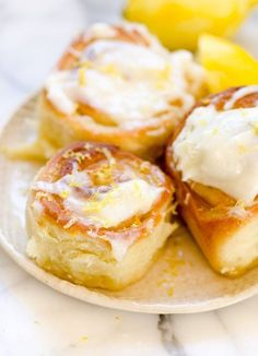Sticky Lemon Rolls with Lemon Cream Cheese Glaze   The Kitchn